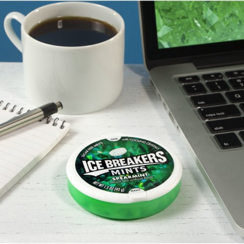 Ice Breakers Spearmint Sugar Free Mints Perspective: right