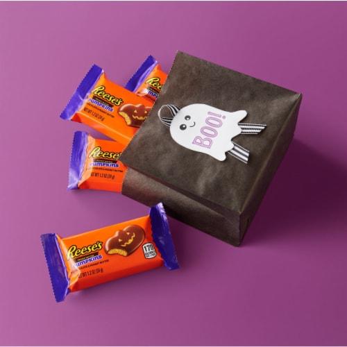 Reese's Peanut Butter Pumpkin Halloween Candy Perspective: right