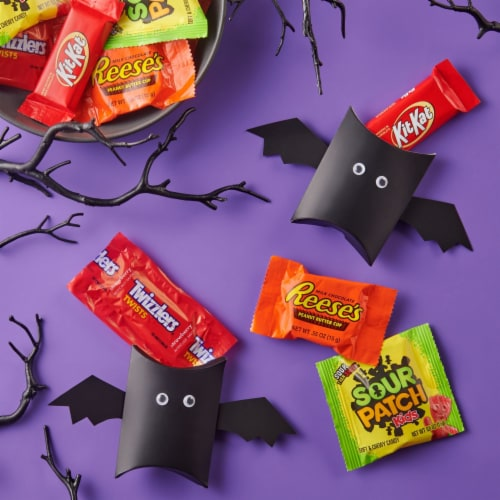 Hershey's Reese's Kit Kat Sour Patch Kids Twizzlers Candy Assortment Perspective: right