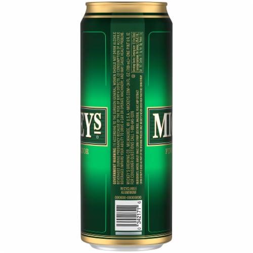 Mickeys Fine Malt Liquor Ale Beer Perspective: right