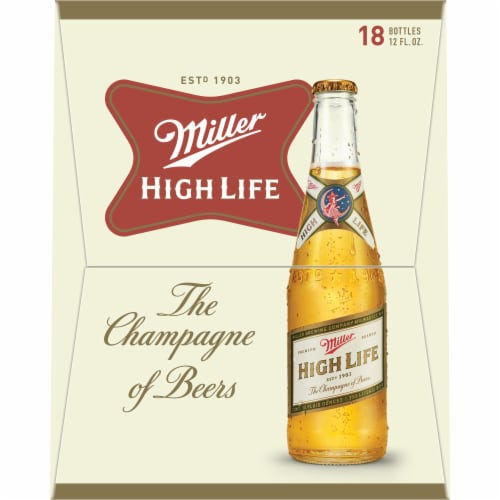 Miller High Life American Lager Beer 18 Bottles Perspective: right