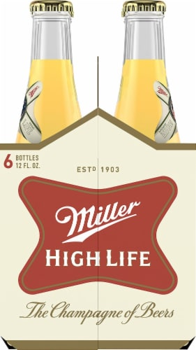 Miller High Life Beer Perspective: right
