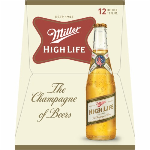 Miller High Life American Lager Beer Perspective: right