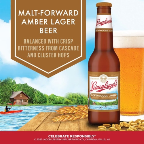 Leinenkugel's Northwoods Lager Beer Perspective: right
