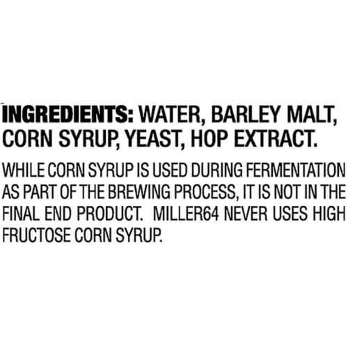 Miller64 Extra Light Lager Beer 18 Bottles Perspective: right