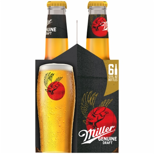Miller Genuine Draft American Lager Beer (6 Pack) Perspective: right