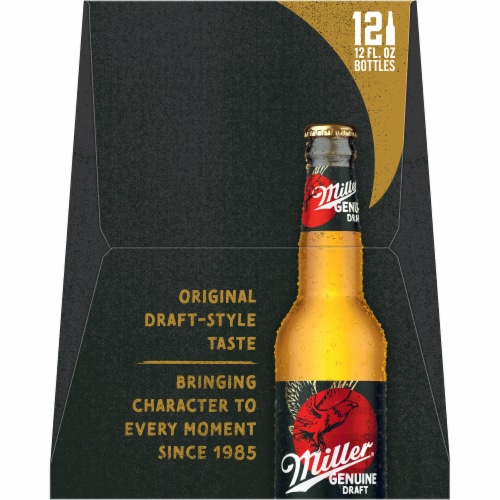 Miller Genuine Draft American Lager Beer Perspective: right