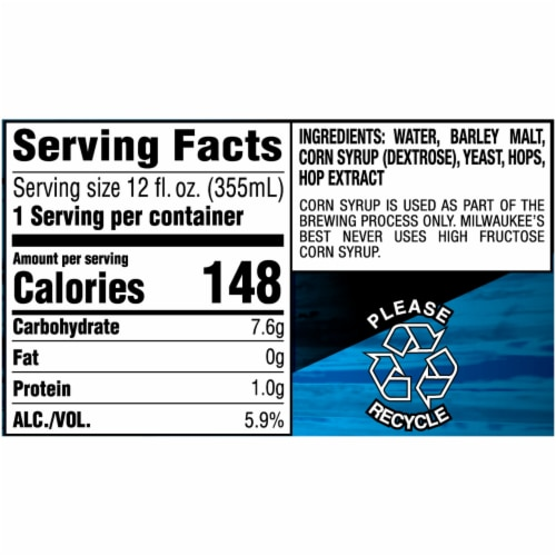 Milwaukee's Best Ice American Lager Beer 15 Cans Perspective: right