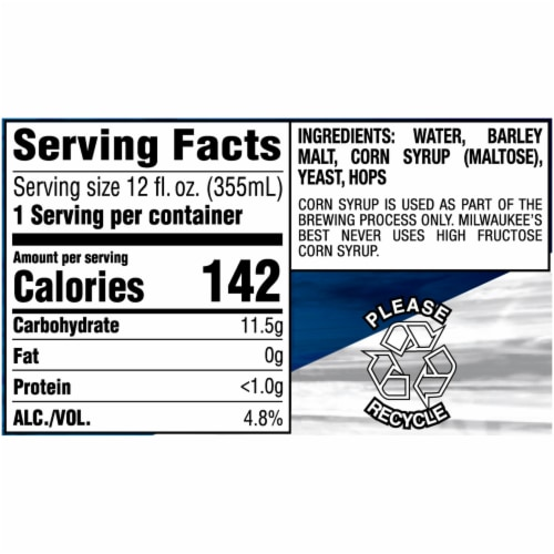 Milwaukee's Best Premium American Lager Beer 15 Cans Perspective: right
