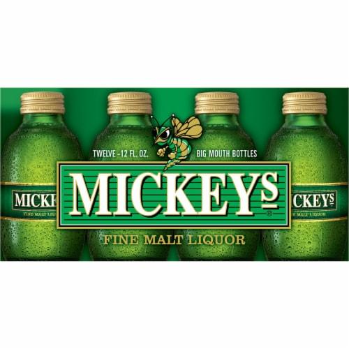 Mickey's Fine Malt Liquor Ale Beer Perspective: right