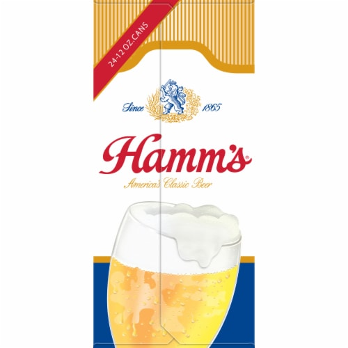 Hamm's America's Classic Premium Lager Beer 24 Count Perspective: right