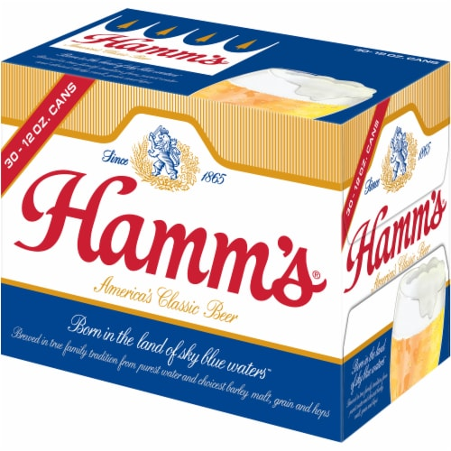 Hamm's America's Classic Premium Lager Beer 30 Count Perspective: right