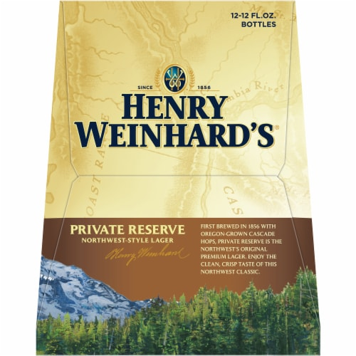 Henry Weinhard's Private Reserve Northwest-Style Lager Perspective: right
