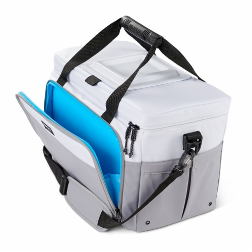 Igloo Coast Durable & Compact Insulated 36 Can Cooler Duffel Bag, White and Gray Perspective: right