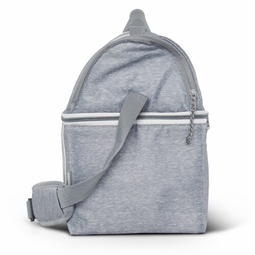 Igloo 22 Can Playmate Gripper Large Portable Lunchbox Soft Cooler Bag, Gray Perspective: right