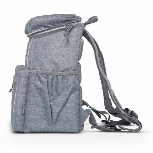 Igloo 30 Can Large Portable Insulated Soft Cooler Backpack Carry Bag, Light Gray Perspective: right