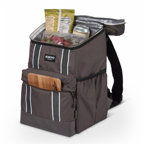 Igloo 30 Can Large Portable Insulated Soft Cooler Backpack Carry Bag, Olive Perspective: right