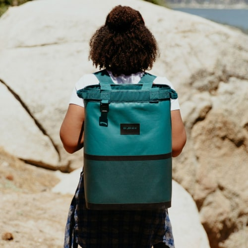 Igloo Reactor Portable 46 Can Soft Insulated Cinch Backpack Cooler Bag, Teal Perspective: right