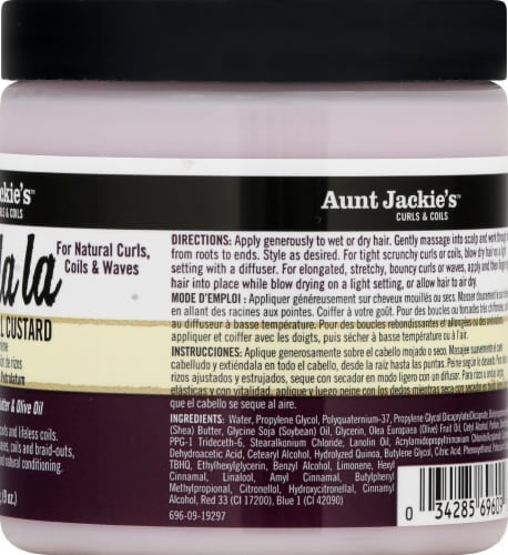 Aunt Jackie's Curl La La Defining Curl Custard Perspective: right
