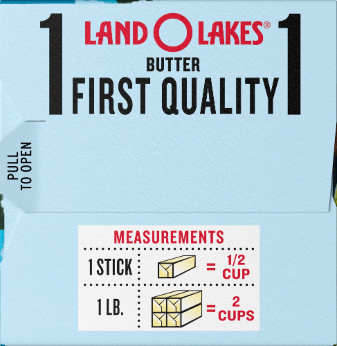 Land O Lakes Unsalted Butter Sticks Perspective: right