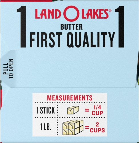 Land O' Lakes Half Stick Unsalted Butter Perspective: right