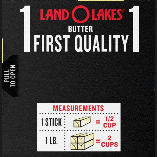 Land O' Lakes Extra Creamy Salted Butter Perspective: right