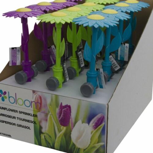 Bond 5025434 13 in. Bloom Sunflower Sprinkler, Green, Blue & Purple Perspective: right