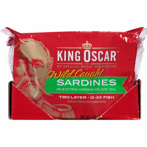 King Oscar Wild Caught Sardines in Extra Virgin Olive Oil Perspective: right