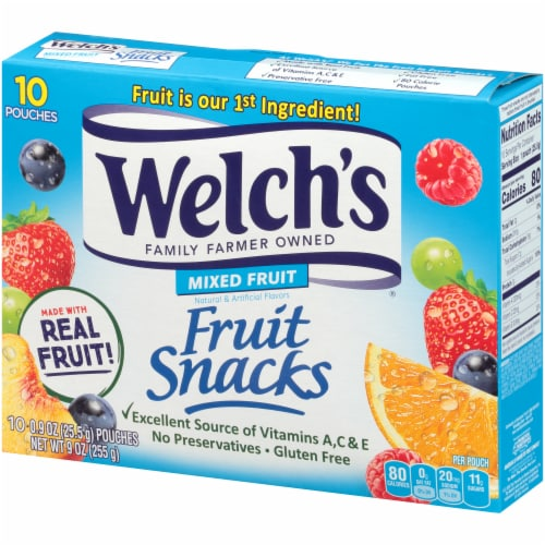Welch's Mixed Fruit Fruit Snacks 10 Count Perspective: right
