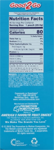 Welch's Mixed Fruit Fruit Snacks 40 Count Perspective: right