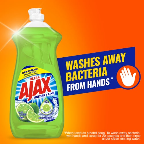 Ajax Vinegar and Lime Dishwashing Liquid Detergent Perspective: right