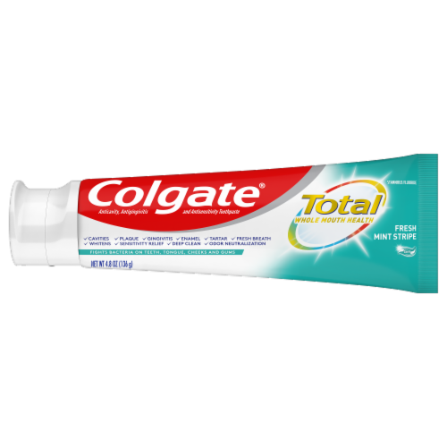 Colgate Total Fresh Mint Stripe Value Pack Toothpaste Perspective: right