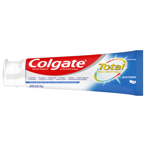 Colgate Total Whitening Toothpaste Value Pack Perspective: right