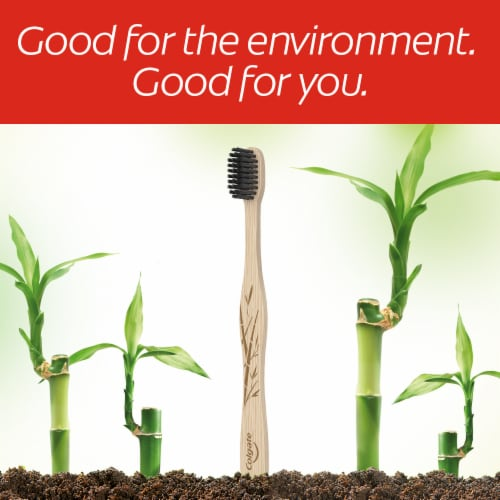 Colgate Soft Bamboo Charcoal Toothbrush Perspective: right