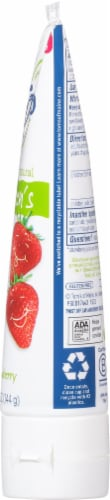 Tom's of Maine Silly Strawberry Children's AnticavityToothpaste Perspective: right