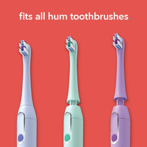 Colgate hum Toothbrush Replacement Heads - Teal Perspective: right
