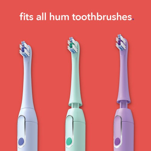 Colgate Hum Replacement Toothbrush Heads - Purple Perspective: right