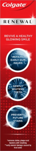 Colgate Renewal Cool Mint Gel Whitening Restoration Toothpaste Perspective: right