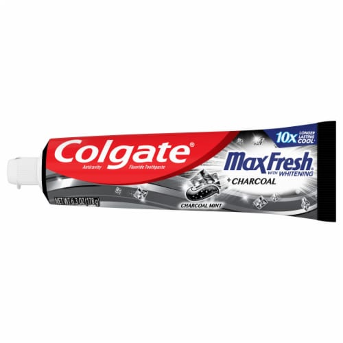Colgate Max Fresh Charcoal Mint Toothpaste Perspective: right