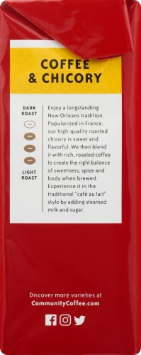 Community Coffee Rich & Flavorful Coffee & Chicory Ground Coffee Perspective: right