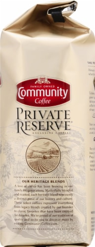 Community Coffee Private Reserve Evangeline Blend Dark Roast Ground Coffee Perspective: right