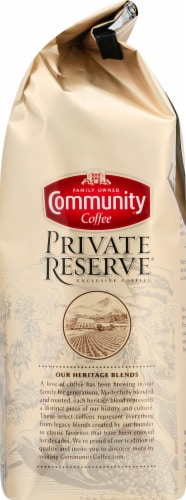 Community Coffee Private Reserve Colombia Medium-Dark Roast Ground Coffee Perspective: right