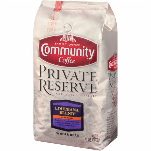 Community Coffee Private Reserve Louisiana Blend Dark Roast Whole Bean Coffee Perspective: right