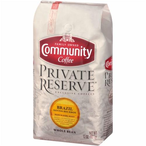 Community Coffee Private Reserve Brazil Santos Bourbon Medium-Dark Roast Whole Bean Coffee Perspective: right
