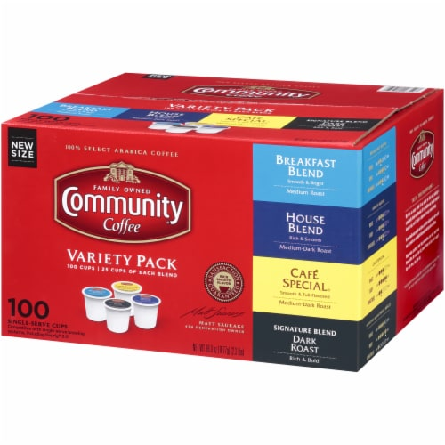 Community Coffee Single Serve Cups Variety Pack Perspective: right