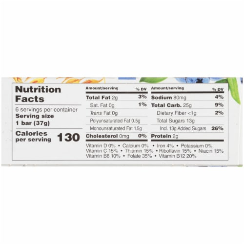 Health Valley Organic Blueberry Cobbler Multigrain Cereal Bars Perspective: right