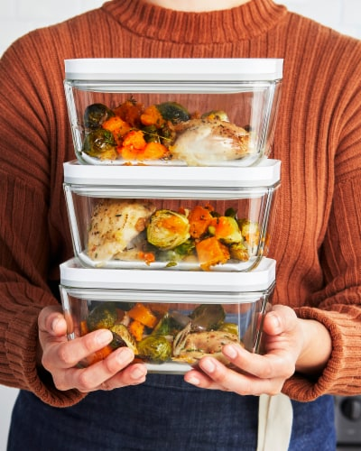 ZWILLING Fresh & Save Glass Airtight Food Storage Container, Meal Prep Container - Medium Perspective: right