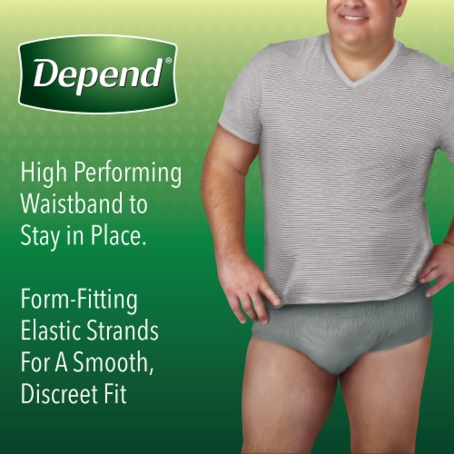 Depend FIT-FLEX Maximum Absorbency Small Medium Incontinence Underwear for Men Perspective: right