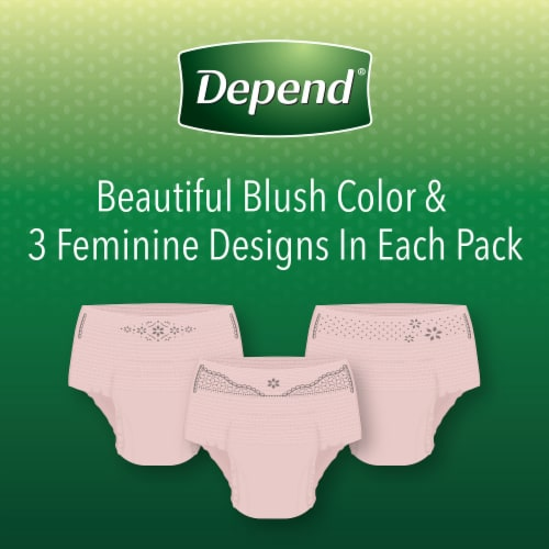 Depend Large Maximum Absorbency Fit-Flex Incontinence Underwear for Women Perspective: right