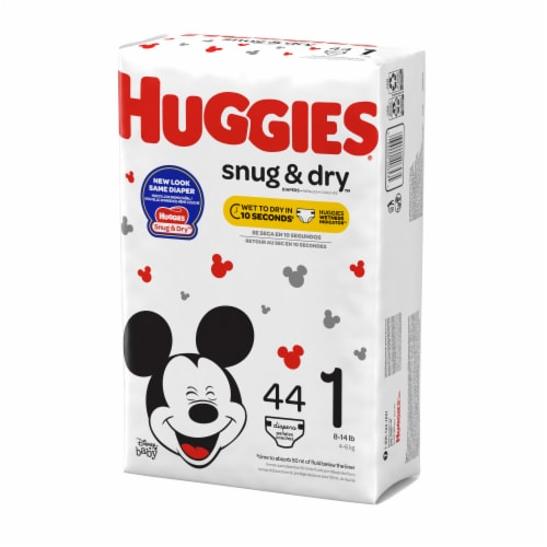 Huggies Snug & Dry Diapers Size 1 Perspective: right